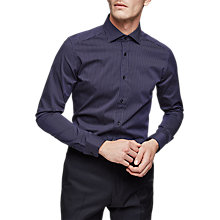 Buy Reiss Guy Stripe Slim Fit Shirt, Navy Online at johnlewis.com