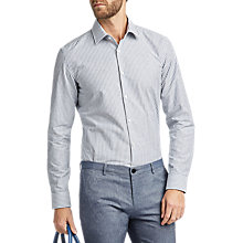 Buy HUGO by Hugo Boss C-Jenno Stripe Slim Fit Shirt, Navy Online at johnlewis.com