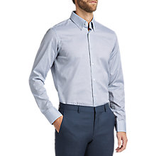 Buy HUGO by Hugo Boss Verdis Regular Fit Textured Shirt, Blue Online at johnlewis.com