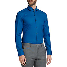 Buy HUGO by Hugo Boss C-Jason Easy Iron Cotton Slim Fit Shirt, Open Blue Online at johnlewis.com