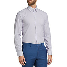 Buy HUGO by Hugo Boss C-Joey Stripe Slim Fit Shirt, Bright Purple Online at johnlewis.com