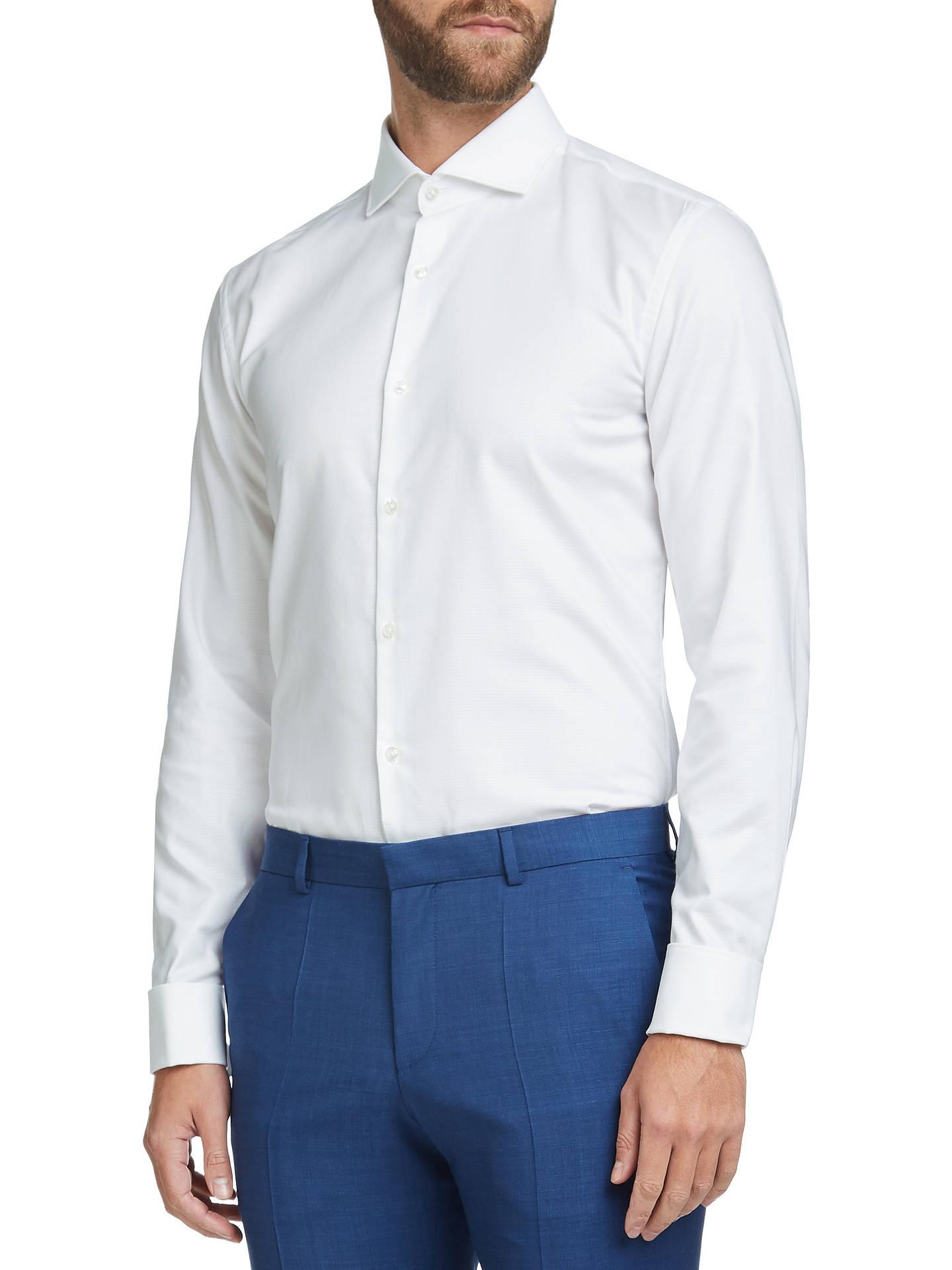 c9baa3ee1 HUGO by Hugo Boss C-Jales Slim Fit Dress Shirt, Open White at John ...