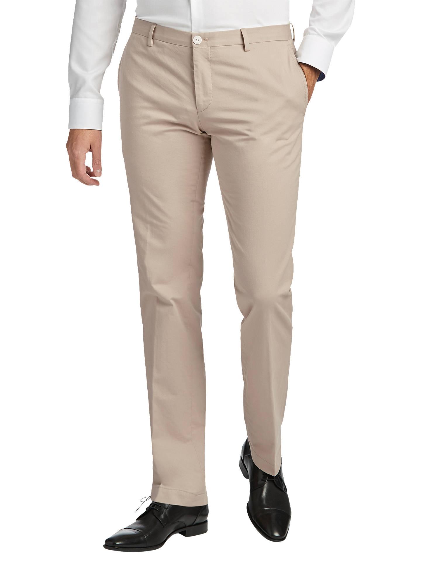 177ccfc7b Buy HUGO by Hugo Boss Gerald Slim Fit Trousers, Medium Beige, 34R Online at  ...