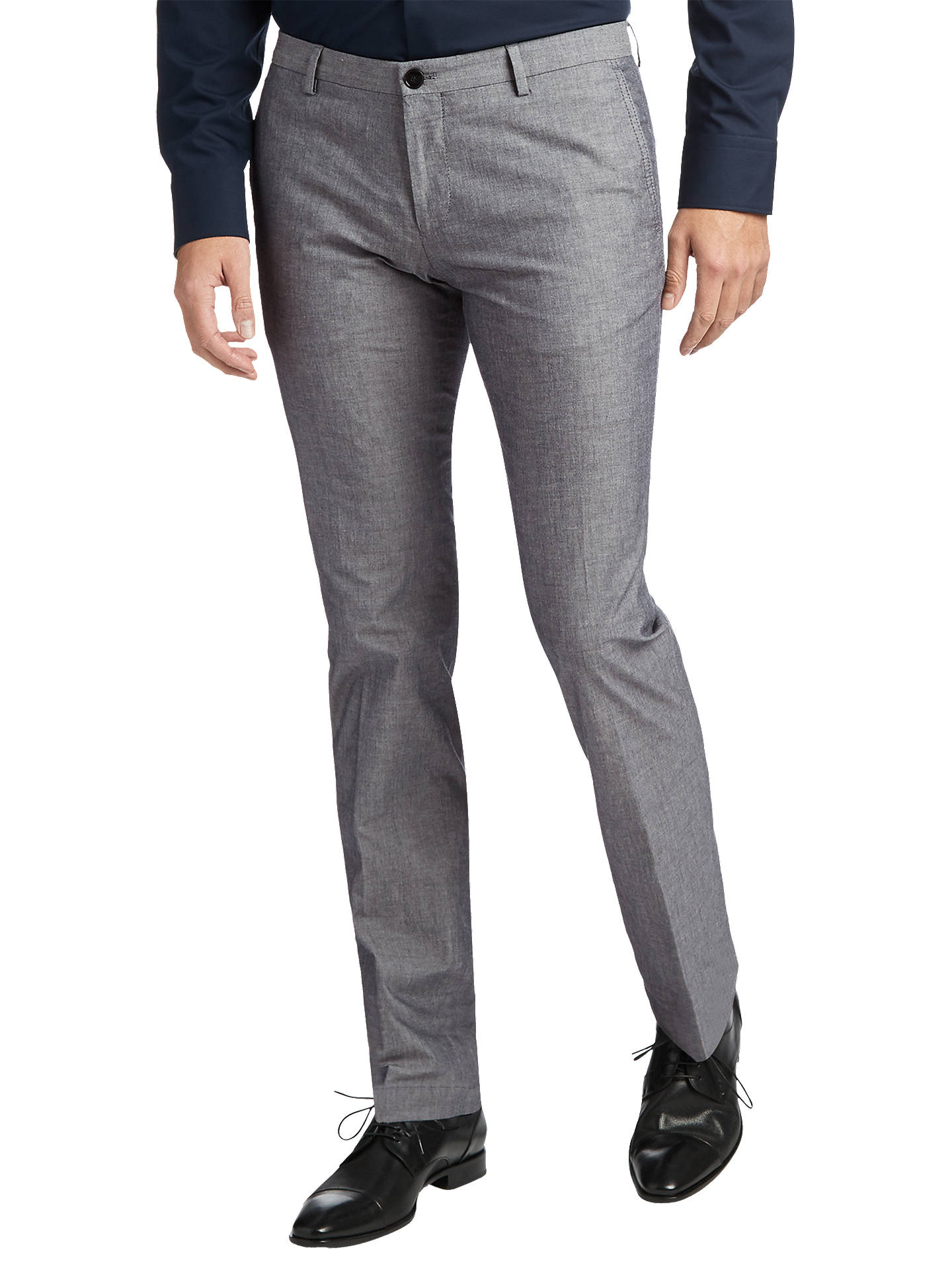73eb0d73a Buy HUGO by Hugo Boss Textured Gerald Slim Fit Trousers, Navy, 30R Online  at ...