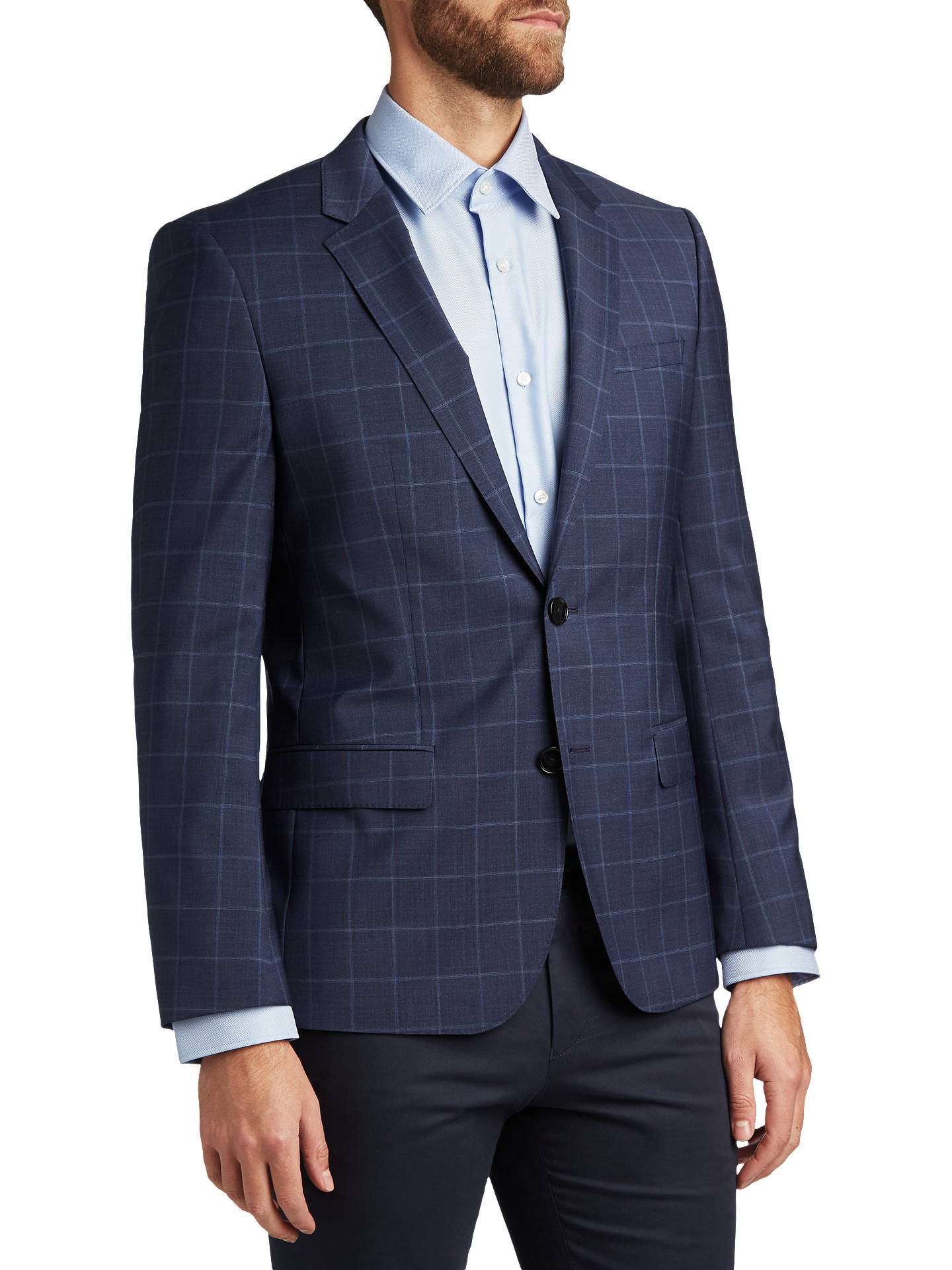 a0a81ff29f8 Buy HUGO by Hugo Boss Henry Windowpane Check Virgin Wool Slim Fit Suit  Jacket, Medium ...