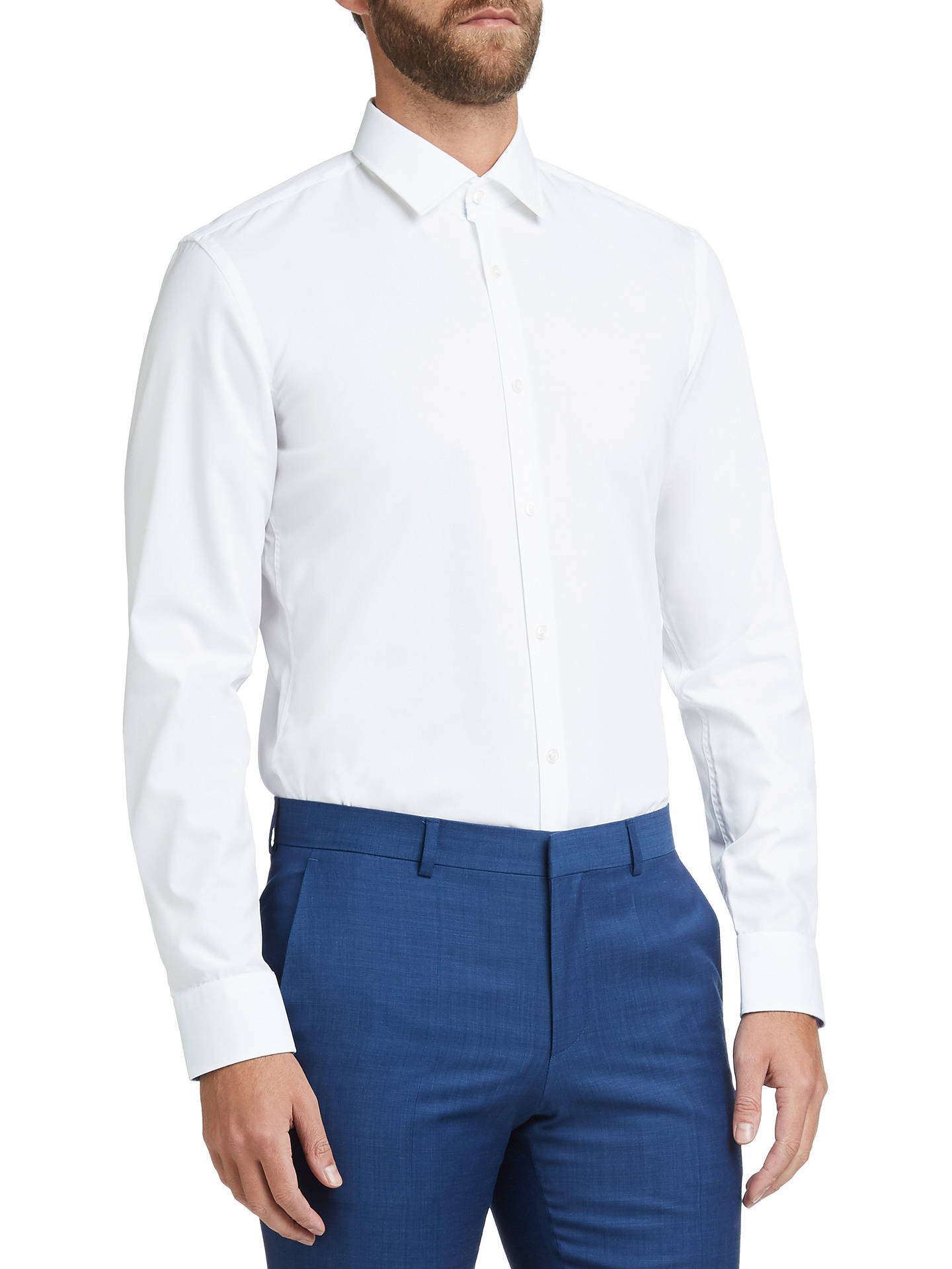 19095e4bd HUGO by Hugo Boss C-Joey Easy Iron Cotton Slim Fit Shirt, Open White ...