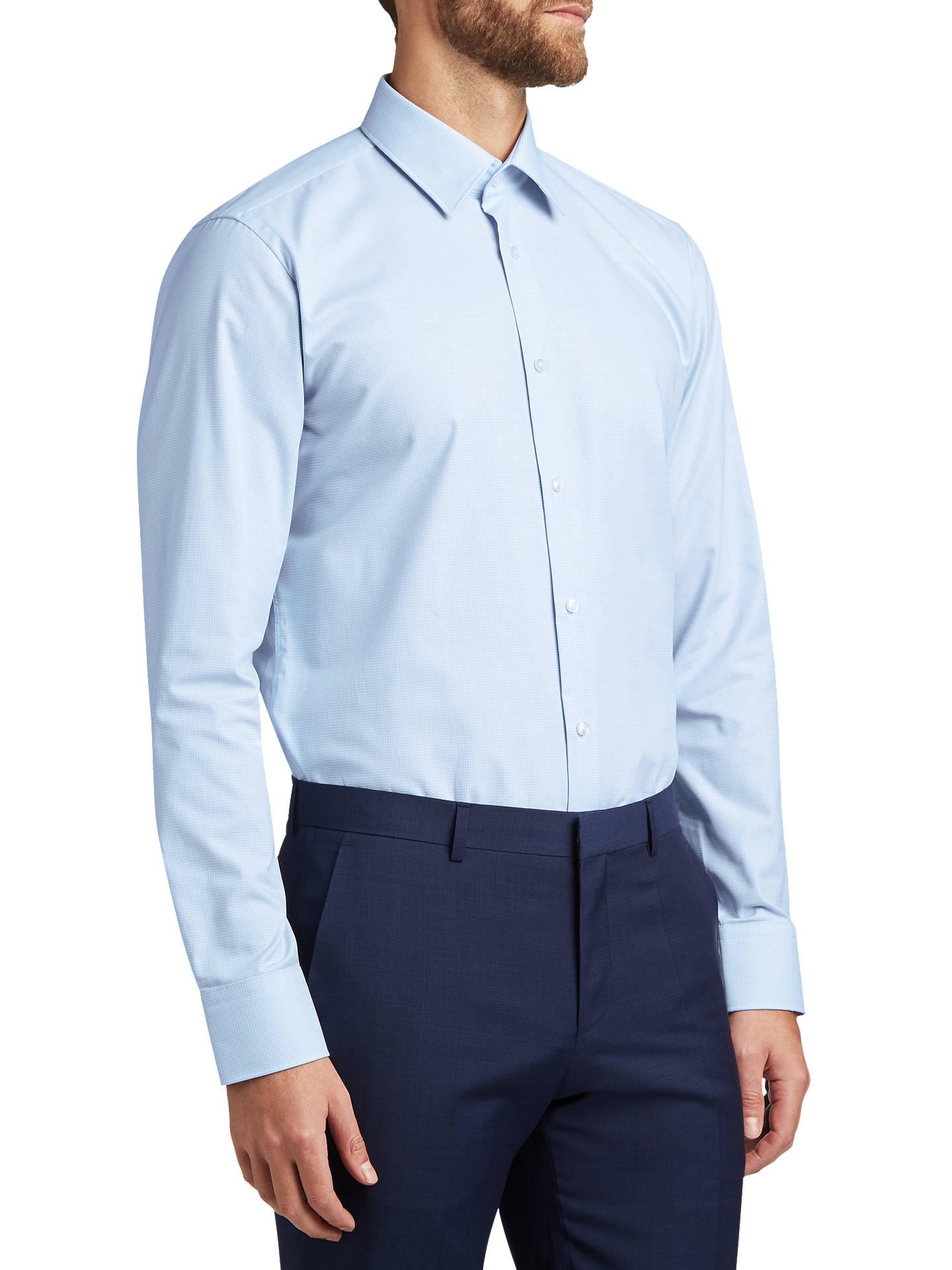 bester Preis Infos für Tropfenverschiffen HUGO by Hugo Boss Enzo Cross Weave Regular Fit Shirt, Light ...