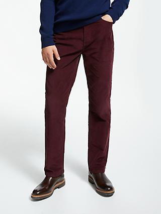 John Lewis & Partners Needle Cord Trousers, Wine