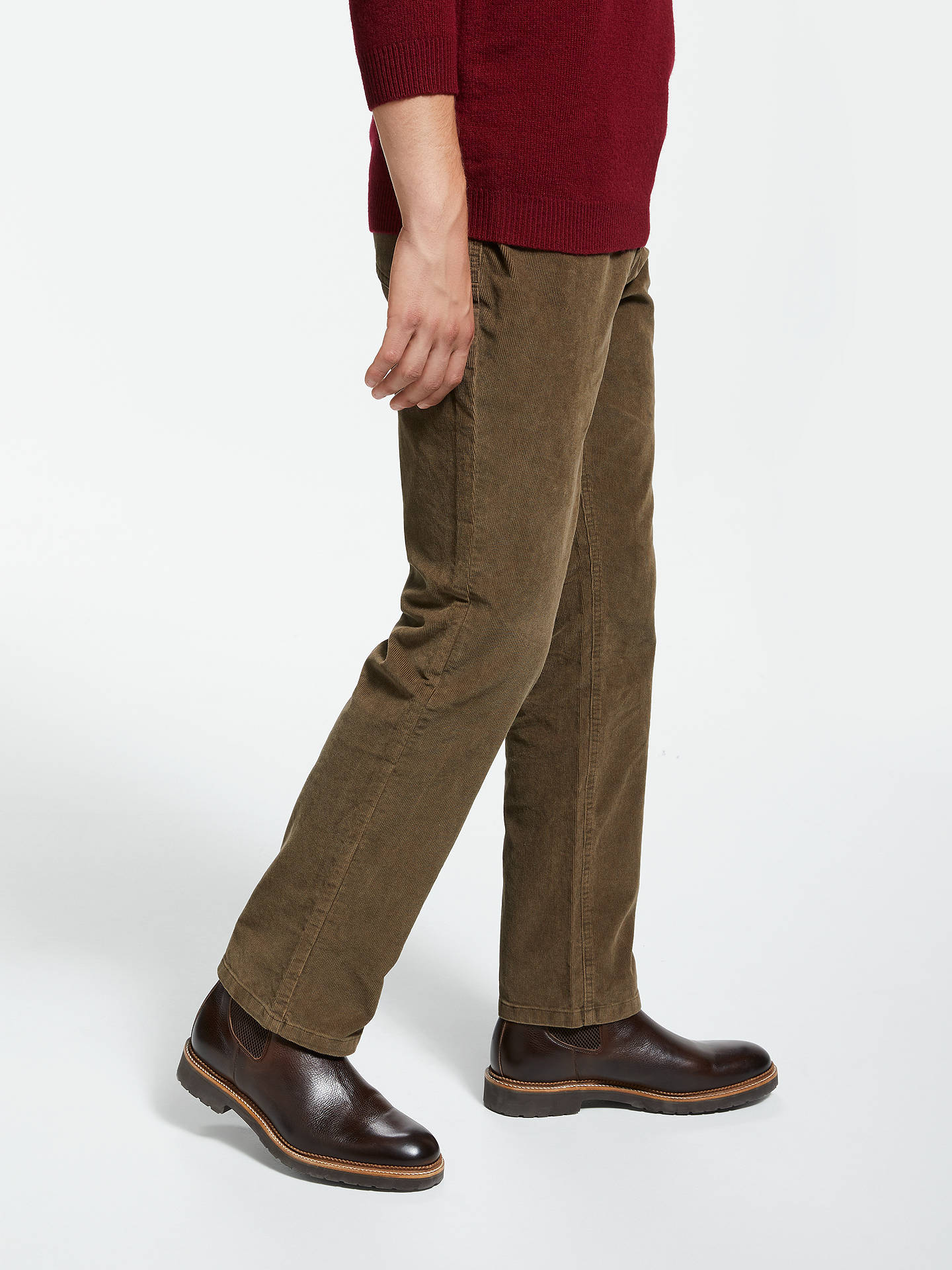 BuyJohn Lewis & Partners Needle Cord Trousers, Taupe, 38S Online at johnlewis.com