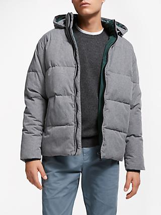 John Lewis & Partners Melange Padded Jacket, Grey