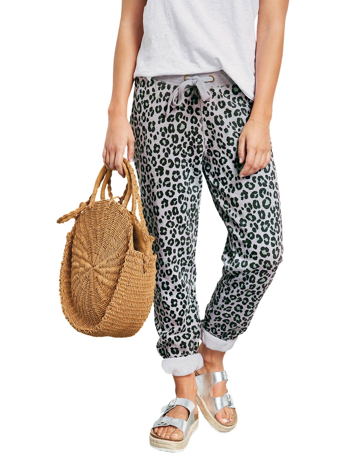 5881f4a4b7cd ... Buy hush Leopard Print Joggers, Green Leopard, XS Online at  johnlewis.com