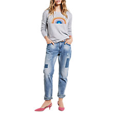 Buy hush Denim Crop Patch Jeans, Denim Online at johnlewis.com