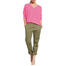 Buy hush Relaxed Straight Fit Chinos, Olive Online at johnlewis.com