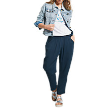Buy hush Cropped Relaxed Trousers, Midnight Online at johnlewis.com