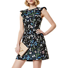 Buy Karen Millen Botanical Floral Jacquard Dress, Multi Online at johnlewis.com