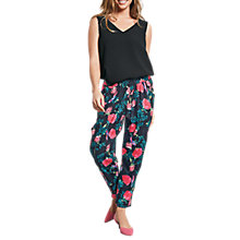 Buy hush Ornate Print Cropped Relaxed Trousers, Ornate Midnight Online at johnlewis.com
