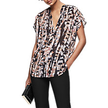 Buy Reiss Feather Printed Blouse, Multi Online at johnlewis.com