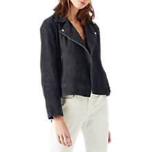 Buy Jigsaw Suede Biker Jacket Online at johnlewis.com