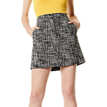 Buy Karen Millen Fun Tweed Skirt, Black/White Online at johnlewis.com