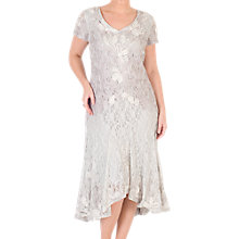 Buy Chesca Ombre Cornelli Lace Dress, Ivory Online at johnlewis.com