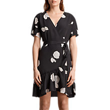 Buy AllSaints Rene Rodin Silk Dress, Black Online at johnlewis.com
