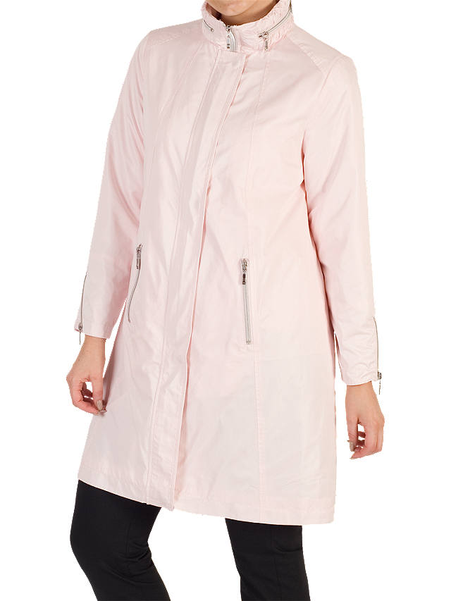 Buy Chesca Ruched Collar Raincoat, Peony, 12 Online at johnlewis.com