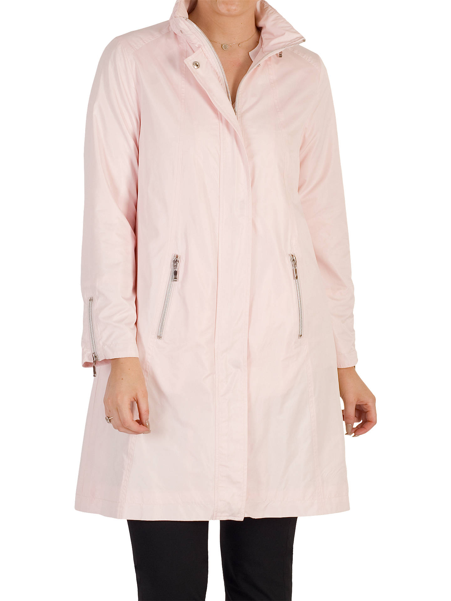 BuyChesca Ruched Collar Raincoat, Peony, 12 Online at johnlewis.com