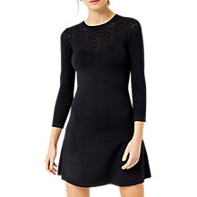 Buy Warehouse Stitch Yoke Dress, Navy Online at johnlewis.com