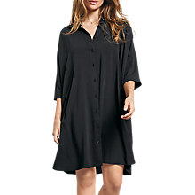 Buy hush Bloomsbury Shirt Dress, Black Online at johnlewis.com