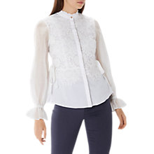Buy Coast Syden Lace Shirt, White Online at johnlewis.com