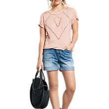 Buy hush Dorset Cut Out T-Shirt, Blush Online at johnlewis.com