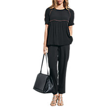 Buy hush Beaded Crepe Top, Black/Copper Online at johnlewis.com