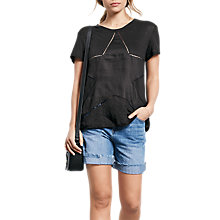 Buy hush Star Cut Out T-Shirt, Black Online at johnlewis.com