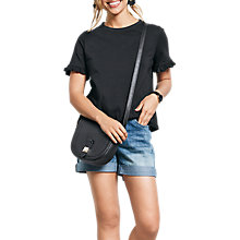 Buy hush Frill Sleeve Jersey T-Shirt Online at johnlewis.com