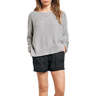 hush Carrie Boxy Jumper, Grey Marl