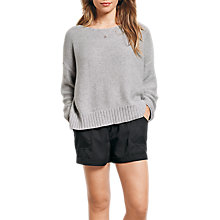 Buy hush Carrie Boxy Jumper, Grey Marl Online at johnlewis.com
