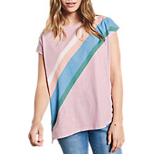 Buy hush Rainbow Boxy T-Shirt, Light Pink Online at johnlewis.com