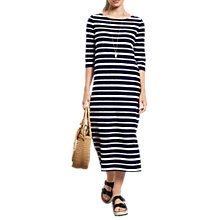 Buy hush Solanana Pure Cotton Dress, Midnight/White Online at johnlewis.com