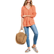 Buy hush Knitted Hoodie, Neon Orange Online at johnlewis.com