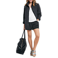Buy hush Longline Military Jacket, Washed Black Online at johnlewis.com