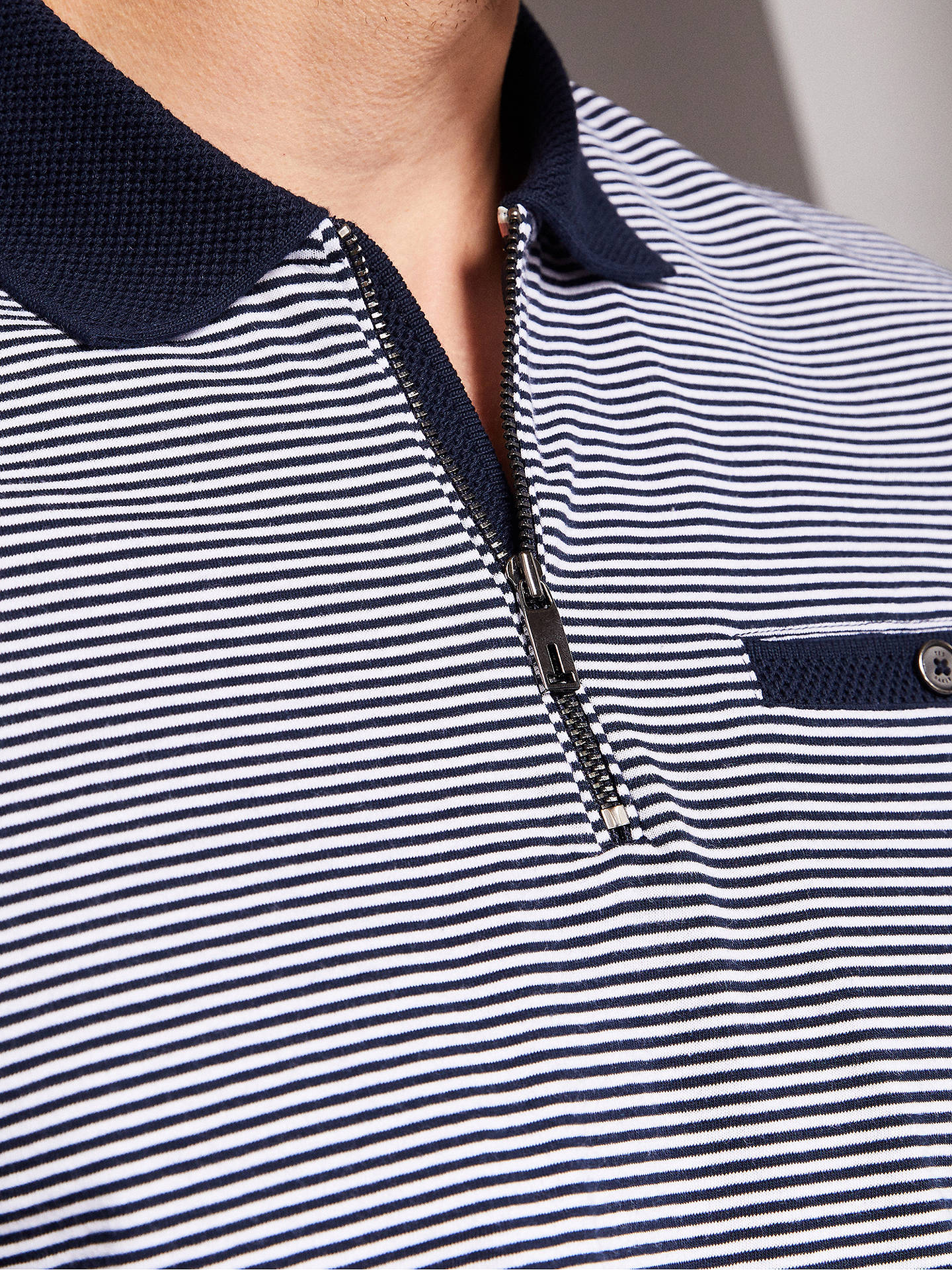 fab7fe3ae7 ... BuyTed Baker Whippet Zip Striped Polo Shirt