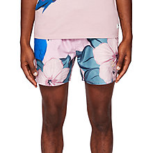 Buy Ted Baker Airo Parrot Print Swim Shorts, Pink Online at johnlewis.com