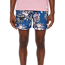 Buy Ted Baker Elms Floral Swim Shorts, Dark Blue Online at johnlewis.com