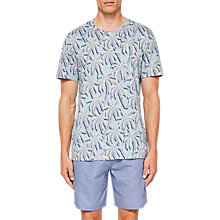 Buy Ted Baker Road Short Sleeve Palm Tree Print T-Shirt, Mint Online at johnlewis.com