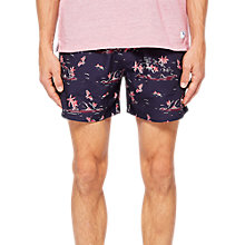 Buy Ted Baker Tempy Island Print Swim Shorts, Navy Online at johnlewis.com