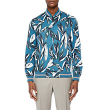 Buy Ted Baker Toth Bomber Jacket, Teal Blue Online at johnlewis.com