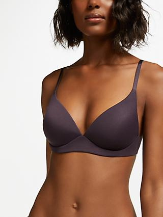 John Lewis & Partners Willow Non-Wired Bra, Sloe Berry