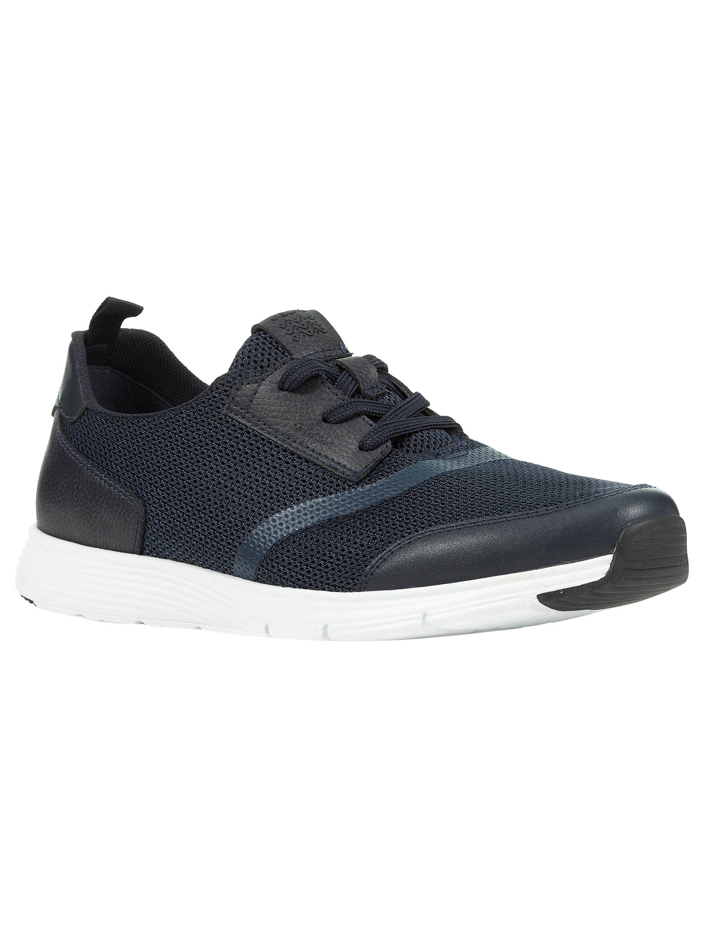 Geox Snapish Textured Trainers at John Lewis & Partners