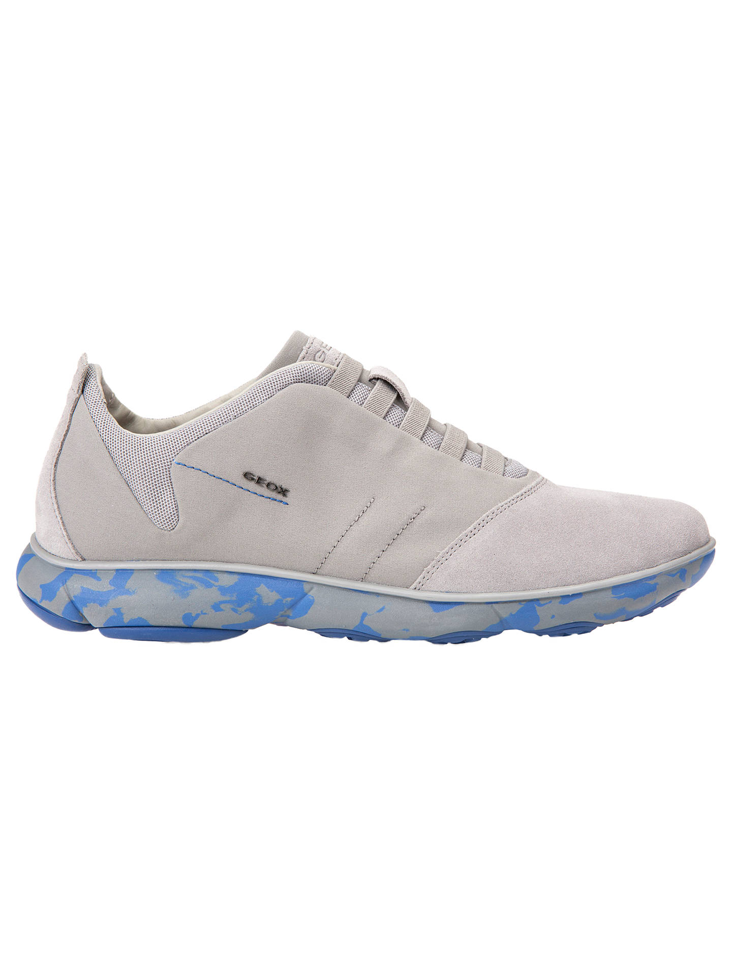0ad0196e09 Buy Geox Nebula 3D Breathing Trainers, Grey/Blue, 7 Online at johnlewis.