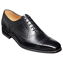 Buy Barker Luke Leather Goodyear Welted Brogues, Black Online at johnlewis.com